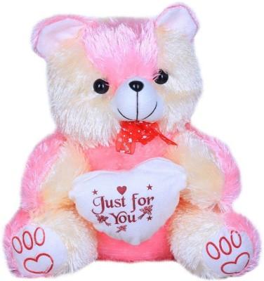 Kyro Stuff Pink Soft Teddy With Heart  - 36 cm
