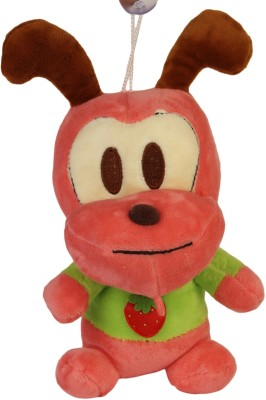 Funny Teddy Hangable Red Sitting Monkey  - 20 cm(Red)