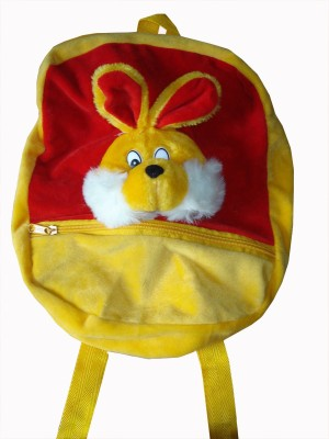MGPLifestyle Rabbit Picnic, School Bag for Kids in Yellow & Red Color  - 12 cm