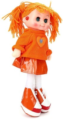 HMS Orange Adorable Musical Doll With Led Light  - 14 inch