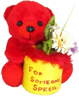Tickles For Someone Special Teddy with Flower  - 17 cm