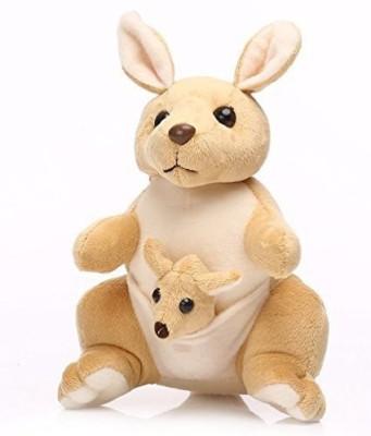 Funny Teddy Small Kangaroo with baby  - 20 cm