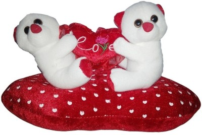 GRJ India Couple With Love Heart  - 5 Inch(White)