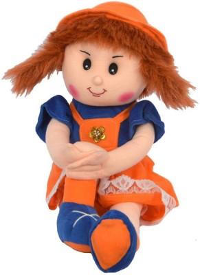 FunnyLand Surabhi Doll Orange Blue 47cm  - 47 cm