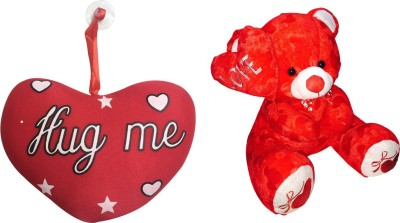 Priyankish Red Side Love Teddy Soft Toy Combo Gift Set