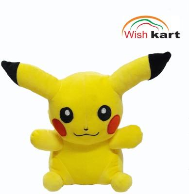 Wish kart Pikachu Stuffed Soft Toy.  - 30(Yellow)
