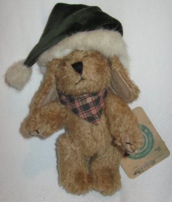 Boyds Bears Boyd,S Bears Plush Indy In Green Santa Hat Archive