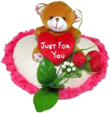 Tickles Teddy On A Heart  - 22 cm