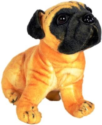 VRV Brown Pug Soft Toy  - 20 cm