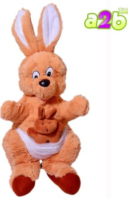 a2b Kangaroo with little champ kangaroo in his pouch  - 44 cm