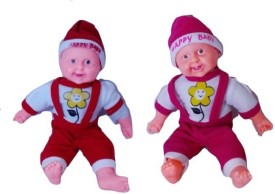 Cuddles Laughing Baby boy With Music Combo - 40 cm(Red, Pink)
