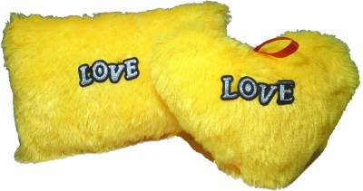 De Hoy-Hoy Set Of 2 Heart Shape Love Soft Cushion Pillow Teddy Bear Valentine Love Gift - 8 Inch  - 35