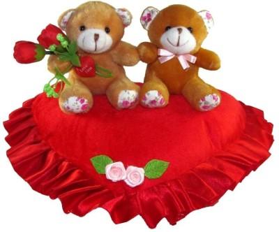 Tickles Couple Teddy On A Heart  - 24 cm