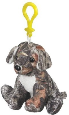 Mossy Oak Camo Labrador Plush Dog Animal Backpack Clip Keychain