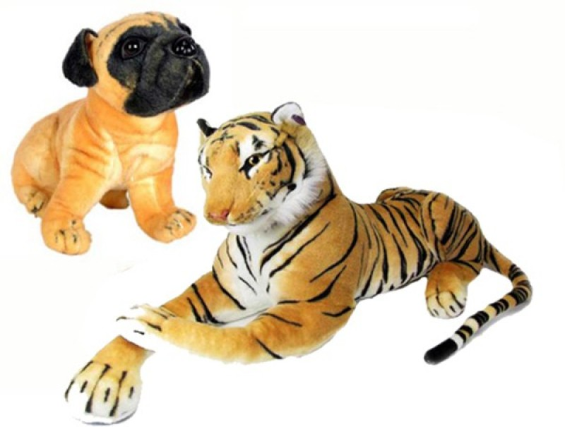 Ewi Beautiful soft touch Tiger & Dog Combo (pack of...