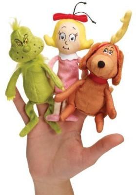 Dr. Seuss Manhattan The Grinch Finger Puppet Set