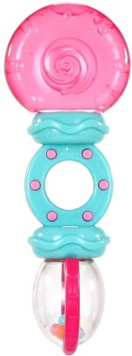 Bright Starts Rattle and Teethe, Pretty in Pink  - 1.6 inch