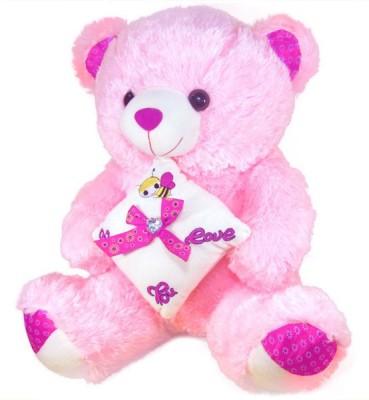 Tickles Sitting Cute Teddy With ILU Pillow  - 50 cm