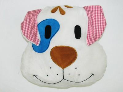Cushion And Toys Dog Face Shaped Cushion / Stuffed Toys  - 14 Inch