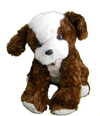Gifts & Arts Cute Soft Dark Brown Dog  - 35 cm