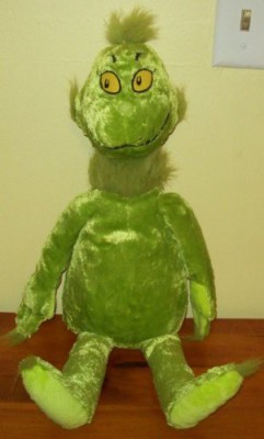 Dr. Seuss How The Grinch Stole Christmas Holiday Plush stuffed Toy by Kohls Cares for Kids  - 20 inch