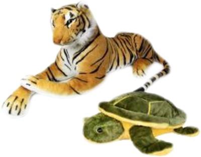 Deals India Deals India Tiger And Turtle Combo  - 10 cm