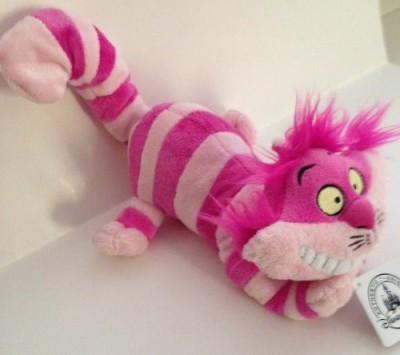 Disney Parks Cheshire Cat 9 Inch Plush Doll New