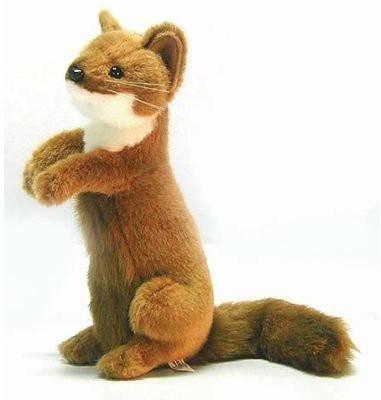 Hansa Standing Weasel Reproduction 12 Tall Affordable Gift(Brown)