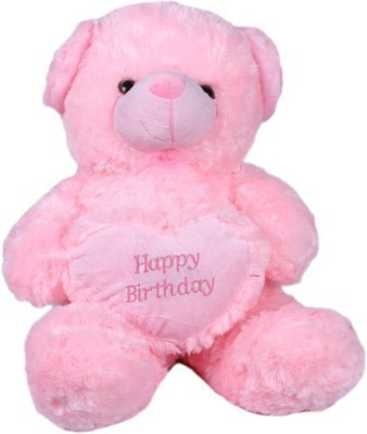 Cuddles Collections Heart teddy Pink  - 35 cm