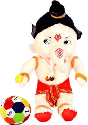 Arthr Bal Ganesh with soft toys Ball  - 45 cm