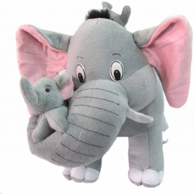 Tickles Elephant with Two Babies  - 22 inch