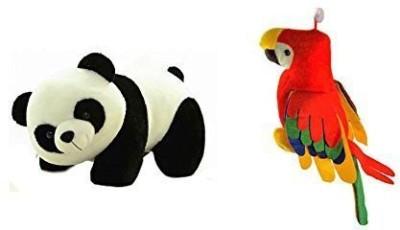 VRV Cute Colorful Panda and Musical Parrot.  - 25 cm