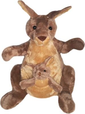 Soft Buddies Kangaroo with Baby  - 13 inch