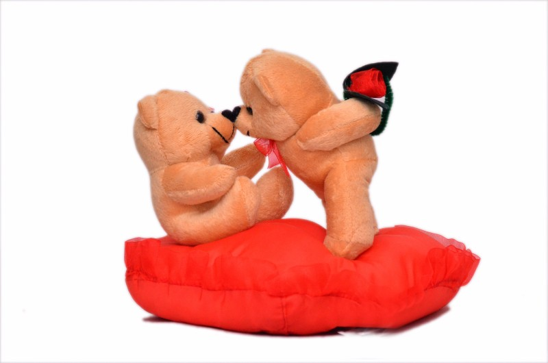 Funzoo Kissing Couple 25cm  - 10 inch(Brown)