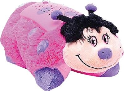 Pillow Pets Dreamlites Hot Pink Ladybug  - 11 inch