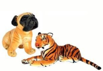Meghanshi Soft hutch dog tiger comboo32 cm(2pc) - 32 cm