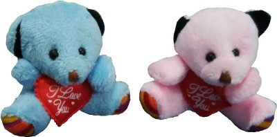 Ekku Combo of Blue and Pink Teddy Key Chain  - 3 inch