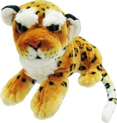 Play N Pets Leopard Animal Stuffed Toy  - 40 cm(Orange)