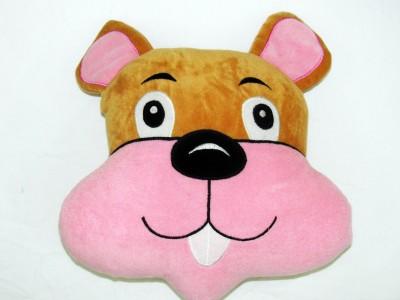 Cushion And Toys Bunny Face Shaped Cushion / Stuffed Toys  - 11 Inch