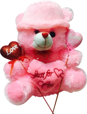 Priyankish Pink Teddy with Pink Cap Combo Soft Toy Gift Set
