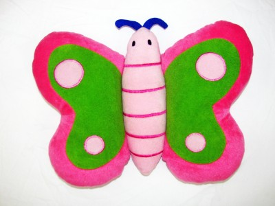 Cushion And Toys Butterfly Shaped Cushion / Stuffed Toys  - 11 Inch