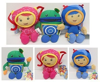 Umizoomi Team Mini Mission Set of 3 Plush Dolls Featuring Geo, Milli and Bob, Ranging From 7 to 8 In  - 36 inch
