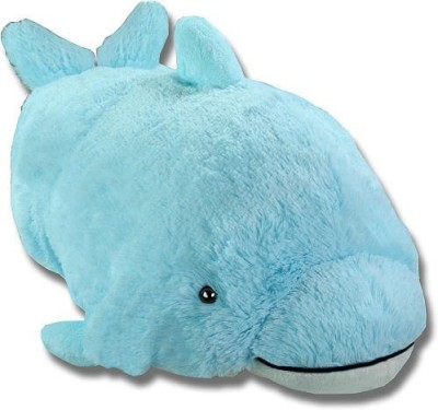 Pillow Pets Squeaky Dolphin Blue Plush New  - 25 inch