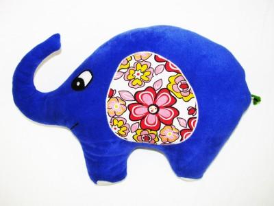 Cushion And Toys Elephant Shaped Cushion / Stuffed Toys  - 14 Inch(Purple)