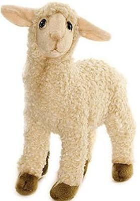 Hansa Sheep Plush Animal 11White(Brown)