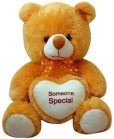 Sana Browne Sitting Bear With heart - 65 cm(Brown)