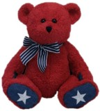 Ty Classic Patriotic Bear in Red 50049 (...