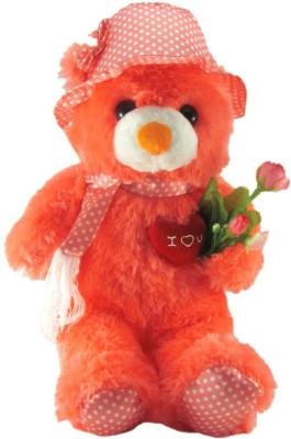 Tickles Cute Cap Teddy With Rose  - 36 cm