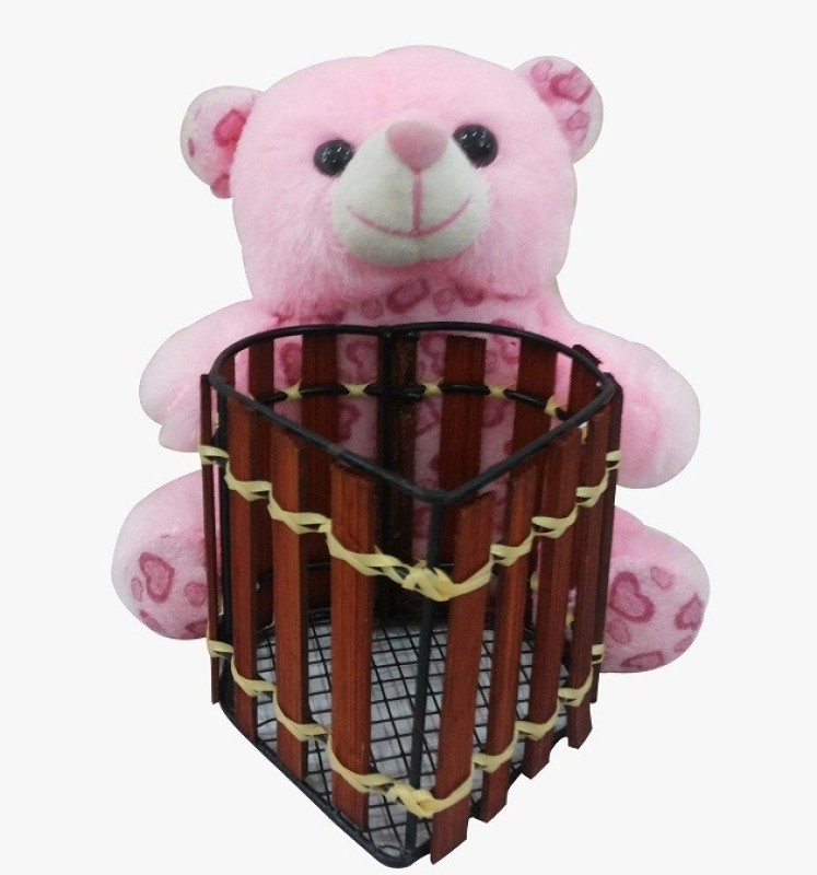 Saugat Traders Teddy Bear Pen Stand  - 6.3 Inch(Multicolor)
