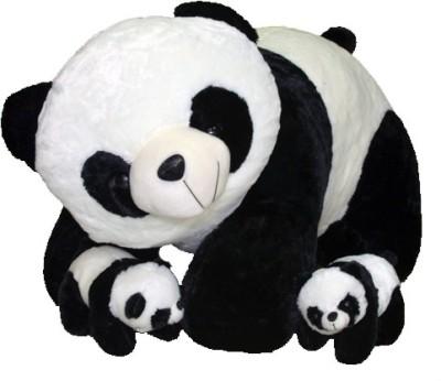 Gifts & Arts Soft Jumbo Panda With 2 Babies  - 42 cm